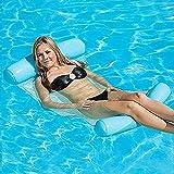 Lovebay Chaise Longue Gonflable à Flotteur pour Jeux d'été, Enfants, Adultes, Piscine et fête à la Plage 130 x 73 cm (Bleu)