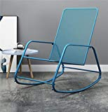 PSSYXT Fauteuil à Bascule Meubles Rocking Chair Adult Rocker Lounge Chair Lazy Simple Casual Easy Chair Balcony Garden Rocking Chair, Blue Color