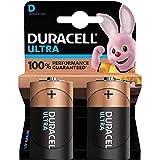 Duracell Ultra, lot de 2 piles alcalines type D 1,5 Volts, LR20 MX1300