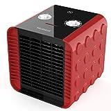 HeiPard Mini Radiateur soufflant Céramique - Comfort Compact Chauffage d'appoint, Ventilation Chaud Froid 2 Réglages de Température - 1500W Silencieux Rouge