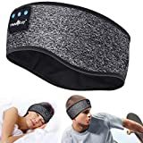 Casque de Sommeil -Anti Bruit Sommeil Bandeau Bluetooth avec Ultra-Fins HD Stéréo Haut-parleurs, étanche Casque Anti Bruit pour Dormir,Cadeau Parfait pour Sport,Dormeurs Latéraux,Voyage et Relaxation