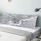 CIKYOWAY Taie d'oreiller Longue Carte Monochrome de Philadelphie Coussin Taie de Traversin avec Fermeture Glissière Invisible Lavable Canapé de Salon decoratif 50x137cm