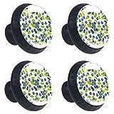 Blueberry Lot de 4 boutons de tiroir ronds avec vis pour maison, bureau, cuisine, commode, armoire, placard