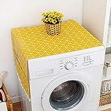 banapo Housse de Protection Jaune pour réfrigérateur, Couvercle de Machine à Laver, Armoire, congélateur(70 * 170cm 67x28inch)