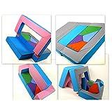 barabike Canapé 4 en 1 pour enfants - Rose/bleu clair - Pour chambre d'enfant