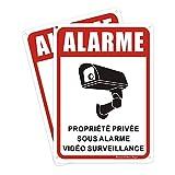 BlazeVideo 2X Panneau Propriété Privée sous Surveillance Vidéo accès Interdit, Aluminium - 180 * 250 mm