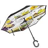 ETGeed Parapluie inversé Sophia, nom Occidental Comique rétro