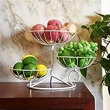 Jianghuayunchuanri Panier de Rangement pour Fruits et Légumes Plaque de Fruits à Trois Niveaux Salon Candy Snack Basket Panier Panier Personnes Bassin de pâtisserie Armoires Garde-Manger