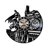 GXYtable cloth Thème Batman Horloge d'enregistrement Vinyle Vintage Vintage Vintage