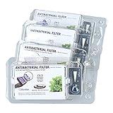 Whirlpool | Lot de 4 - Microban ANT001, ANT-001, ANTF-MIC, 481248048172 - Filtre antibactérien pour réfrigérateur - Traitement de l'air