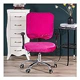 Housse de Chaise Amovible de Style Extensible Moderne-Housse de Chaise Résistante pour Chaise de Bureau Rotative Chaise Pivotante Chaise Rose Rouge Coussin