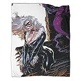 DRAGON VINES Couverture chaude pour lit ou fauteuil Motif Spiderman Noir 100 x 130 cm