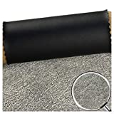 Matériau de Revêtement en Tissu Simili Cuir.Largeur 140 Cm / 54 Pouces, pour Canapés Haut de Gamme, Sièges D'auto, Sacs Souples de Chevet (Noir) (Size : 1.38x2m)