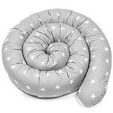 tour de lit bebe - contour de lit bébé tour de lit coussin boudin lit bebe serpent contour de lit bébé garçon GRIS, 150 CM