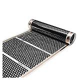 XIAOFANG Fangxia Store Chauffage de Sol Chaud 50CMX2M Film de Plancher Chauffant Chauffant Infrarouge électrique de l'infrarouge électrique 220V (Color : Black)