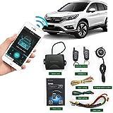 Démarreur de voiture à distance à 2 voies automatique Système d'alarme de voiture pour téléphone Application sans clé PKE Verrouillage central avec deux commandes à 4 boutons Démarrage à distance