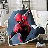 CQLXZ Spiderman Couverture en Flanelle,Superhero Spiderman Movie Couverture en Flanelle,Super Douce,Utilisée dans Les chaises,canapés,Salons et Chambres (G,100 x 140 cm)