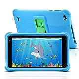 qunyiCO 7 pouces Tablette pour enfants 32Go Android 10.0 Caméra WiFi Bluetooth 2Go de RAM Écran tactile HD 1024*600 Étui pour enfants Contrôle parental Apprentissage sur Google Playstore certifié bleu