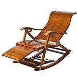 FCXBQ Chaise de Jardin inclinable Vintage inclinable en Plein air Relax-Chair Chaise berçante en Bois Chaises Longues réglables Transats pliants pour Piscine de Jardin