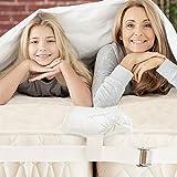Bed Bridge Kit - Combleur de joint de lit pour faire des lits jumeaux dans King - Connecteur de lit double King Maker et connecteur de matelas pour les invités Séjour et réunion de famille (NATUREL)
