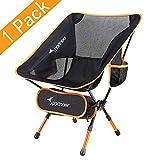 Chaise de Camping, Sportneer® Portable Léger Pliable Camping Chaise pour Backpacking/ Randonnée/ Pique-nique/ Pêche / Plage / Jardin
