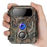 Victure Mini Caméra de Chasse 16 MP 1080p avec Vision Nocturne Avancée Activée par Mouvement IP66 étanche pour Observation de la Faune
