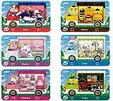 6 Cartes NFC pour Sanrio Animal Crossing Amiibo pour Switch/Switch Lite/Wii U/New 3DS avec étui de Rangement
