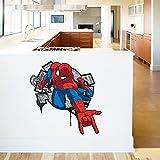 Creative Spiderman super-héros Sticker mural salon canapé fond décor à la maison chambre papier peint décalcomanies