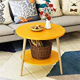 ZDAMN Boutons de Manchette Canapé Side Chair Table d'appoint for Petit Espace for Nightstand Salon Chambre Texturé Boutons de Manchettes Poignets (Couleur : Yellow, Size : 50cm)