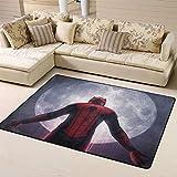 Zmacdk Spiderman Tapis carré facile à nettoyer pour salle de jeux, chambre à coucher, 150 cm x 240 cm