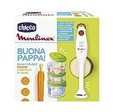 Chicco 00007660000000 Mixeur avec pots, 3 récipients, blanc
