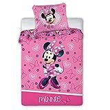 FARO Minnie Mouse Parure de lit pour Enfant 178 100 x 135 cm + 40 x 60 cm