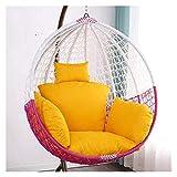 Coussins d'extérieur pour chaises de patio Coussin de chaise d'oscillation, coussins de chaise de hamac d'oeuf épaississent le coussin de chaise suspendu avec l'oreiller pour le jardin intérieur exté