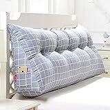 HAOLY Stripe Coussin Triangulaire Wedge Grand traversin,Tête de lit Dossier de Lecture,Coussin pour canapé lit,Banquette-lit Oreiller-O 120x20x50cm(47x8x20inch)