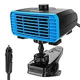 LINGSFIRE Chauffage Portable de Voiture 12 V - Chauffage Rapide - Désembuant - Dégivreur - Base rotative à 360° - Prise Allume-Cigare 2 en 1 - Chauffage/Refroidissement de Voiture