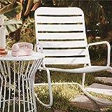 Novogratz Roberta Robertog Poolside Chaise berçante d'extérieur, Blanc, 93 x 64 x 97 cm