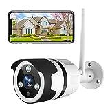 Netvue Caméra de Surveillance Extérieure, 1080P Full HD Caméra WiFi, IP66 Étanche, Détection de Mouvement, Audio Bidirectionnel, Vision Nocturne, Contrôle à Distance APP-Compatible avec Alexa Echo