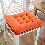 N/A Hiver Épaissir Tapis Anti-dérapant Coussin Chaise à Manger Coussin Coussin étudiant (Color : Orange, Size : 45X45cm)