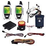 EasyGuard Em2092voies Moto Système d'alarme avec télécommande Démarrage du moteur Starter micro-onde Capteur coloré LCD pager écran Shock Sensor Capteur de proximité universel fourni Version DC 12V