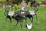 Made for us Salon de Jardin en Aluminium avec 2 chaises de Jardin en Fonte d'aluminium résistant aux UV 54 x 54 cm 2 Coussins lavables Inclus