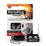 Alpine PartyPlug Bouchons d'oreilles : protections auditives pour la musique (fêtes, festivals et concerts) - Restitution parfaite du son - Hypoallergéniques et réutilisables - Embouts translucides