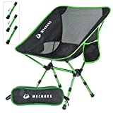 Mechhre Hauteur Réglable Chaise De Camping Pliable Chaise Pliante avec Sac De Transports pour Randonnée Pêche Ultraléger Portative (Vert)