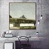 wZUN Décor à la Maison Impression Toile Art Mur Photo Affiche Impression sur Toile Peinture carrée Danemark 50x50 sans Cadre