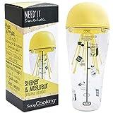 SCRAP COOKING 5251 Shaker & Mesureur Need'it-Verre Doseur Gradué Pâte à Crêpes, Gaufres, Pancakes, Omelettes-en Plastique-500ml-Jaune-5251, Plastique, Jaune, 21 x 8,5 x 8,5 cm