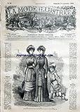 MODE ILLUSTREE (LA) [No 37] du 10/09/1882 - TOILETTES JEUNES FILLES - DENTELLES - DENT POUR LAMBREQUIN - ALPHABET - CHAISE VOLANTE HENRI II - BIJOUX - MODES DE CHEZ MARC GUEYTON - COIFFURES ET ACCESSOIRES DE CHEZ MME BOUTIN