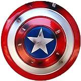 MMCC Marvel Avengers Captain America Shield en métal Custome Cosplay Accessoires pour Adultes et Enfants Accessoires de Poche Miracle Props Décoration du modèle 75e Anniversaire
