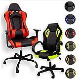 ZStyle Fauteuil de gaming pour bureau, jeux vidéo inclinable rembourré ergonomique bureau ordinateur Playstation RTX GTX