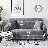 DADAO Housse canapé élastique,Housses de canapé canapé Cuir 1 All-Inclusive 2 3 Places-BI 235-300cm(93-118inch)