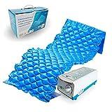 Mobiclinic, Mod. Mobi 1, Matelas anti escarre à air, Pour escarres de niveau I, Alternances de cellules et compresseur, 130 cellules d'air, Bleu