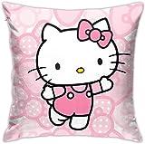 Bxad Housse de coussin Hello Kitty rose pour canapé, lit, chaise, décoration d'intérieur (45,7 x 45,7 cm)